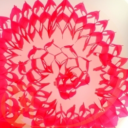 Guirlande tube en papier