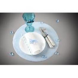 50 set de table rond tissu non tissé