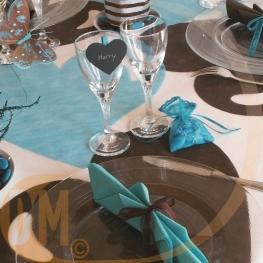 Set de table coeur par  50