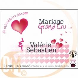 Étiquette personnalisée coeur romantique