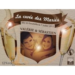 Étiquette personnalisée Champagne