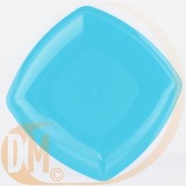 Assiette plate carrée 23 cm en pvc rigide (par 12)