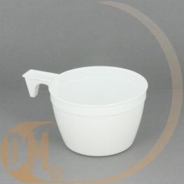 Tasse à café plastique blanche (par 45)