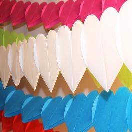 Guirlande de coeurs en papier 3m